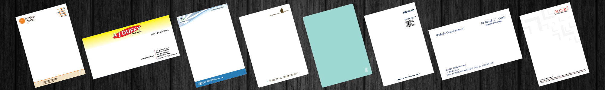 Letterheads & With Comps