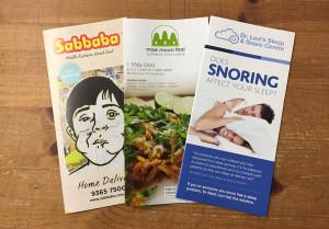 6pp DL brochures samples